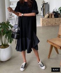 N.VOGUE/N.Vogue(エヌヴォーグ)アシンメトリー半袖ワンピース/502039984