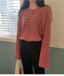 sonyunara/SONYUNARA(ソニョナラ)ヘンリーネックストライプTシャツ/502040044