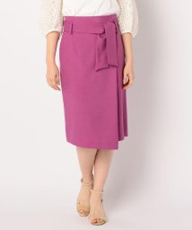 NOLLEY'S/ウエストリボン麻混合繊スカート/502040850