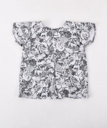 BeBe/フライスリゾートプリントAラインTシャツ/502041014