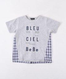 BeBe/天竺チェック切り替えTシャツ/502041016