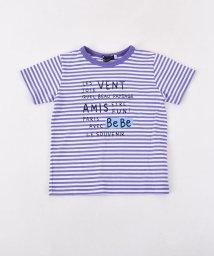 BeBe/BOY天竺ボーダーロゴTシャツ/502041018