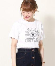coen/カレッジプリントベーシックTシャツ/502041488