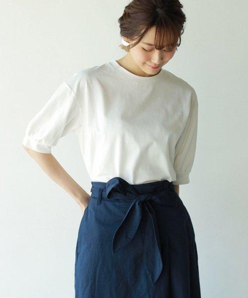 coen(コーエン)/【新色ブラック登場】コットンパフスリーブカットソー/76256039037