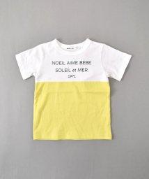 Noeil aime BeBe/天竺バイカラーTシャツ/502046330
