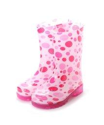 K's PLUS/ケーズプラス K's PLUS 歩くたびに光る LED内蔵ソール キッズレインブーツ Lighting Rain Boots 長靴・kp_18004 (PINK/502135959