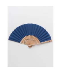 KAYA/【カヤ】紳士用 麻無地扇子 袋付き ブルー/502145467