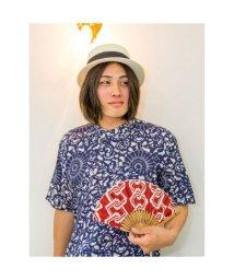 KAYA/【カヤ】紳士用 吉原つなぎ扇子 袋付き エンジ/502145488