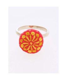 KAYA/【カヤ】縫い飾り くるみぼたんリング イエロー/502146402