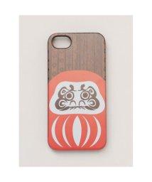 KAYA/【カヤ】iPhone8/7兼用 木製スマホケース茶 和モダンプリント その他5/502147187