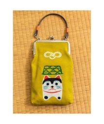 KAYA/【カヤ】日本の民芸 お守り手付きがま口 マスタード/502147686