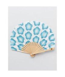 KAYA/【カヤ】レトロ花扇子 袋付き ブルー/502147878