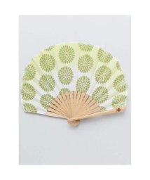 KAYA/【カヤ】レトロ花扇子 袋付き ライトグリーン/502147881