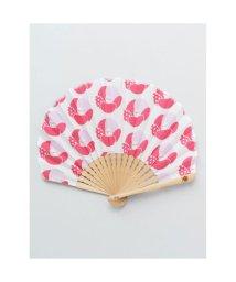 KAYA/【カヤ】レトロ花扇子 袋付き ピンク/502147883