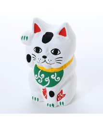KAYA/【カヤ】鯛招き猫 唐草 ホワイト×グリーン/502148230