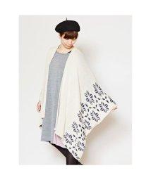 KAYA/【カヤ】-attakee- 紋色羽織り ビッグシルエットニットカーディガン ホワイト系その他/502148258