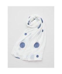 KAYA/【カヤ】水玉模様 刺繍ストール ホワイト/502148440