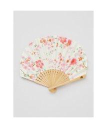 KAYA/【カヤ】舞い桜扇子 袋付き ホワイト/502148459