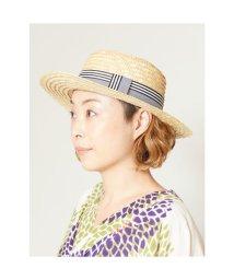 KAYA/【カヤ】文様リボン麦わら帽子 ストローハット その他1/502148522