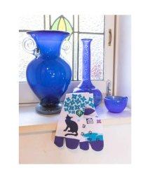 KAYA/【カヤ】紫陽花と猫 足袋くつ下23~25cm ホワイト×ブルー/502148665