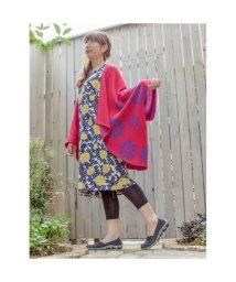 KAYA/【カヤ】紋色羽織り ビッグシルエットニットカーディガン レッド/502148830