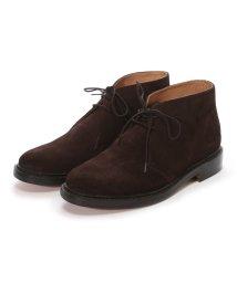 London Shoe Make/ロンドンシューメイク London Shoe Make グッドイヤーウエルトオールレザーハンドメイドスェードカントリーブーツ(ダークブラウン)/502152121