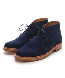 London Shoe Make/ロンドンシューメイク London Shoe Make グッドイヤーウエルトオールレザーハンドメイドスェードカントリーブーツ(ライトネイビー)/502152123