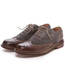 London Shoe Make/ロンドンシューメイク London Shoe Make グッドイヤーウエルトオールレザーハンドメイドバイマテリアルウィングチップ(ブラウンコンビ)/502152127