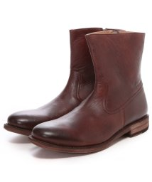 London Shoe Make/ロンドンシューメイク London Shoe Make グッドイヤーウエルトオールレザーハンドメイドジップアップハーフブーツ(ボルドー)/502152136