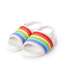 MELISSA/メリッサ melissa MINI MELISSA BEACH SLIDE SANDAL RAINBOW BB (WHITE/COLORFULL)/502169388