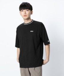 SENSE OF PLACE/【NET限定】FILA 別注リブロゴTシャツ(5分袖)/502251203