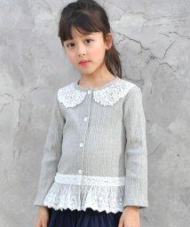 子供服Bee/襟つき風 裾レースカーディガン/502254470