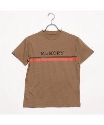 STYLEBLOCK/スタイルブロック STYLEBLOCK 30sコーマ天竺ロゴプリントTシャツ (キャメル)/502255357