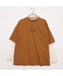 STYLEBLOCK/スタイルブロック STYLEBLOCK 天竺Tシャツ×チュールインナーセット (キャメル)/502255390
