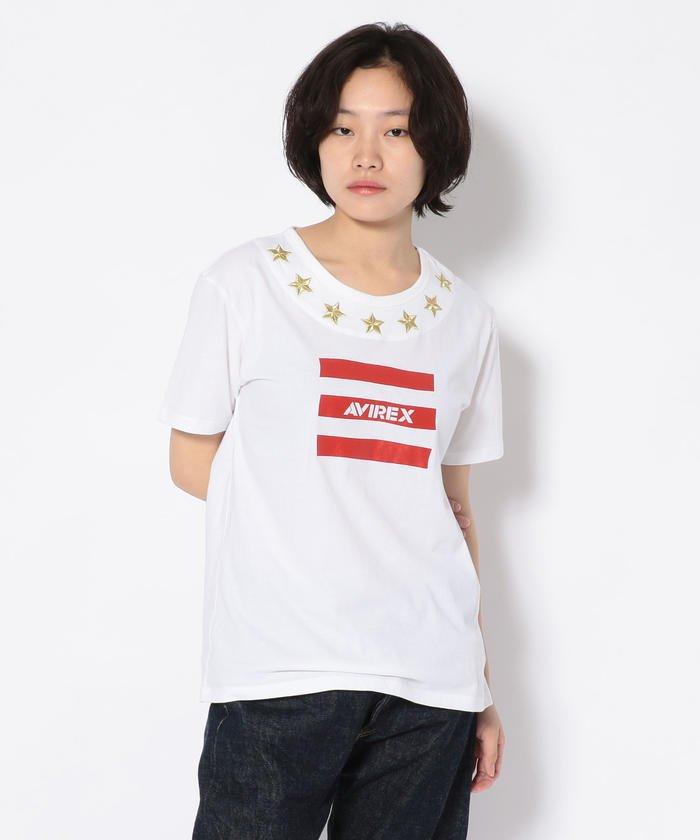 #エンブロイダリースターロゴティーシャツ/ Embroidary Star LOGO T−SHIRT