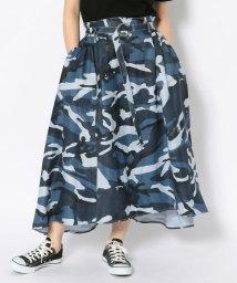 AVIREX/#バックギャザーサテンスカート/ BACK GATHERED SATIN SKIRT/502255701