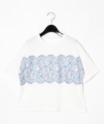 GRACE CONTINENTAL/リバーレースTシャツ/502255737