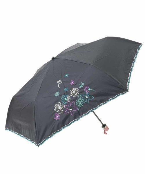 Jocomomola(ホコモモラ)/【晴雨兼用】フラワー刺繍折りたたみ傘/GG8FG04085