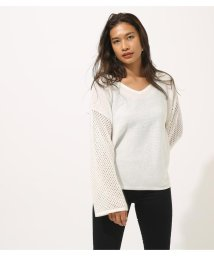 AZUL by moussy/CROCHET SLEEVE KNIT TOPS/502255971