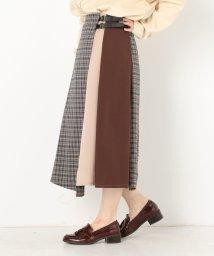 archives/チェック配色ベルト付スカート/502265731