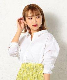 Cheek/綿麻シャンブレー2WAYシャツ/502266304