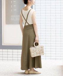 SLOBE IENA/《予約》ラップ風リネンツイルジャンパースカート◆/502267597