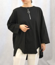 ANDJ/ビッグシルエット変形Tシャツ /502267975