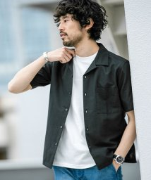 nano・universe/【WEB限定】フレンチリネンオープンカラーシャツ 半袖/502268013