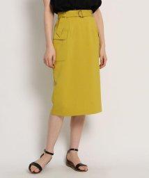 AG by aquagirl/【Lサイズあり/洗える】リネン調フラップタイトスカート/502268242