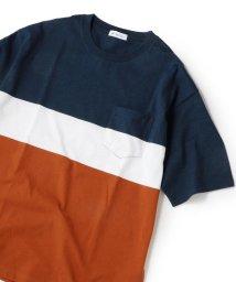 SHIPS JET BLUE/SHIPS JET BLUE: ブロッキング ボーダー Tシャツ/502268442