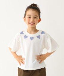 3can4on(Kids)/【110cm~160cm】ハート刺しゅうフレア袖Tシャツ/502268767