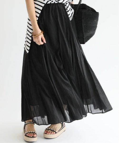 IENA(イエナ)/《予約》コットンボイルギャザーパネルスカート◆/19060900900020