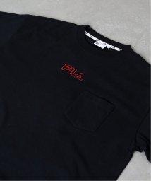 EDIFICE/FILA / フィラ 別注 エンブロイダリーロゴ ポケット Tシャツ/502269360