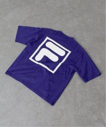 EDIFICE/FILA / フィラ 別注 ロゴ プリント Tシャツ/502269361